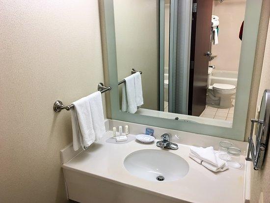 bathroom sink area picture of springhill suites cincinnati northeast mason mason tripadvisor