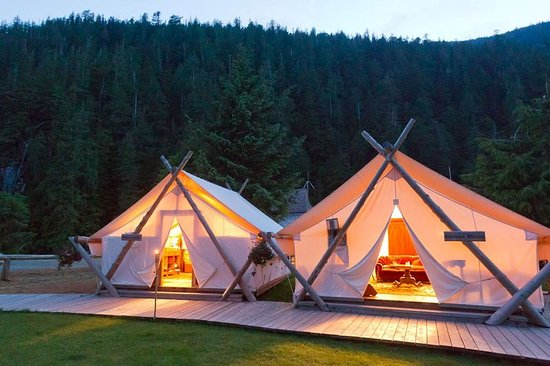 Clayoquot Wilderness Resort: Lounge Tents