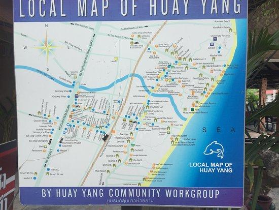 Vipha Ville Resort: Map of Huay Yang