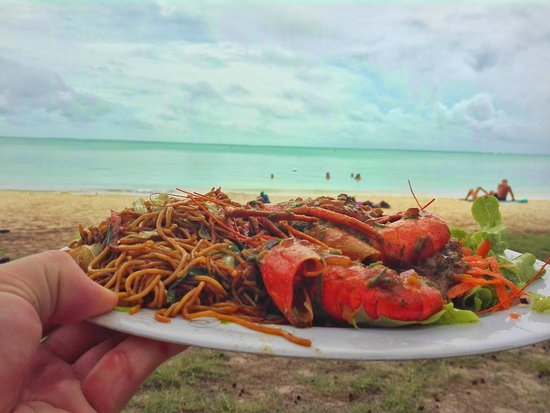 Kiosque Magique: Crayfish and Asian Noodles with coconut sauce