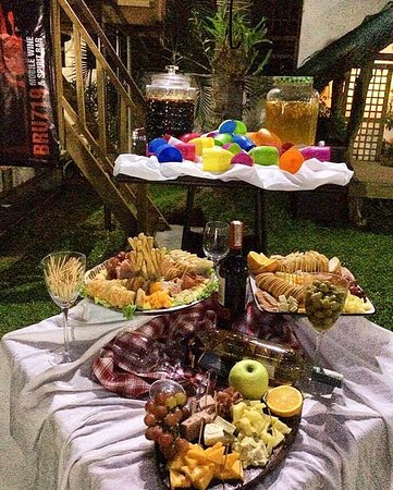 Tanauan City, Philippines: Wine and cheese platter setup by the lake side by Lusciuos Palate and Events