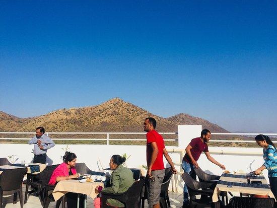 Udaipur District, الهند: Rooftop Restaurant