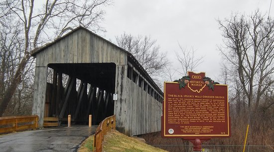Oxford, OH: The Black Covered Bridge