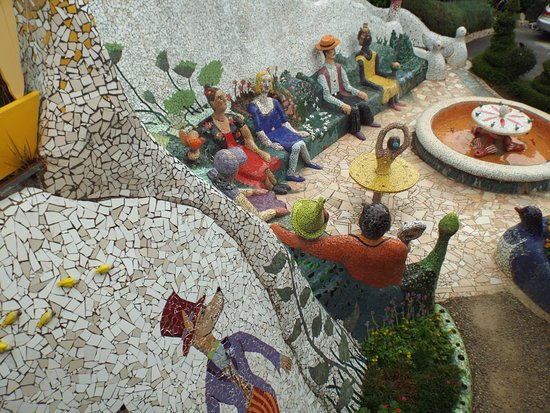 The Giant's House: One small section of the garden behind the house. Everywhere you walk there are beautiful mosaic