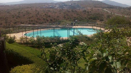 Kiserian, Kenia: the view of the pool