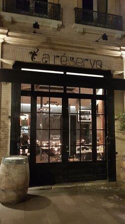 La Réserve : Façade du Restaurant