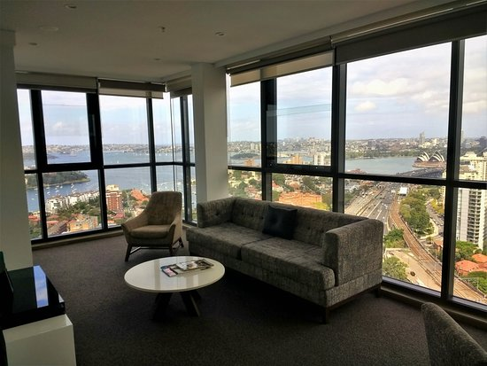 Meriton Suites North Sydney: The Living Area And Sydney Harbour View