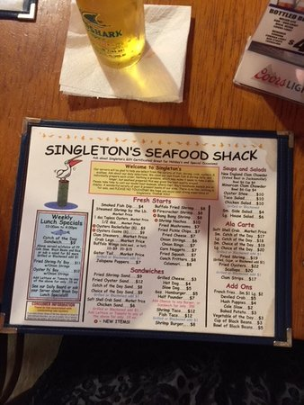 Atlantic Beach, FL: Menu1