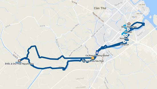 More or less accurate routing by Google Maps Picture of Can Tho