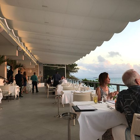 Prospect, Barbados: Cin Cin terrace dining at sunset