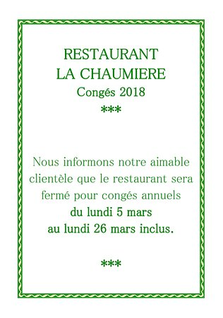 Roquecourbe, فرنسا: Nous vous accueillerons à nouveau au restaurant à partir du mardi 27 mars midi