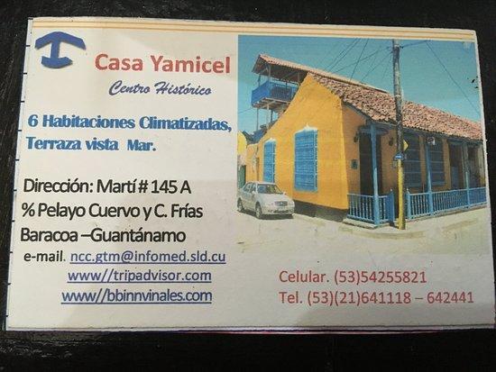 Carte Casa Avec Coordonnées Picture Of Casa Yamicel