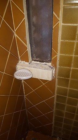 Chiang Mai Gate Hotel: moisissures sur les joints de la douche
