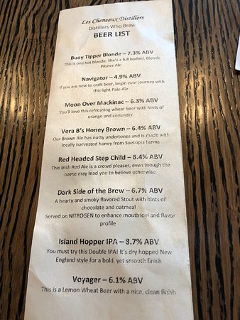Cedarville, MI: Beer List