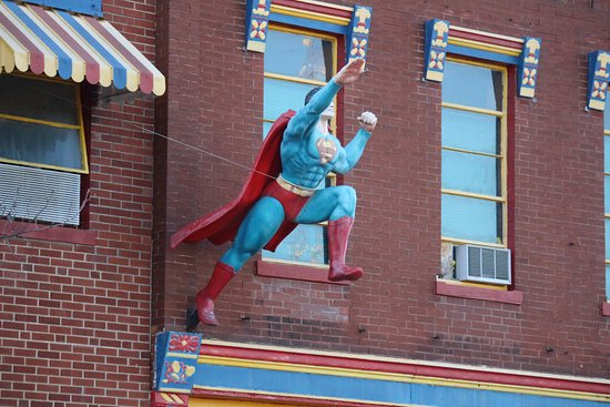 Metropolis, IL: The building that houses the museum and store also has Superman