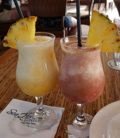 Mango Colada (Yum) and Lava Flow.