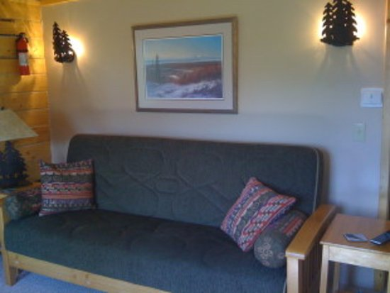 Tundra Rose Guest Cottages: Glacier Overlook - Sofa Couch