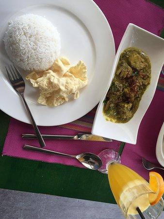 Breakwater: Maldivian spicy tuna, rice and panpadum.