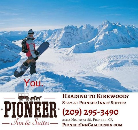 Pioneer, CA: We're close to Kirkwood Ski Resort and offer affordable and clean rooms.