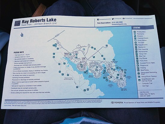 Map Of Johnson Branch Unit Picture Of Ray Roberts Lake State Park - Johnson lake map
