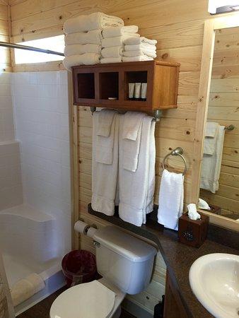 Saint Mary, MT: Kamping Lodge Bathroom