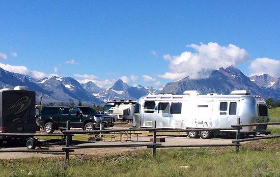 Saint Mary, MT: Airstream camping at the KOA
