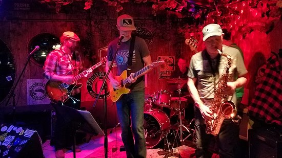 Cottonwood Heights, UT: The funk band Lake Effect jamming out Friday night March 2nd at The Hog Wallow Pub