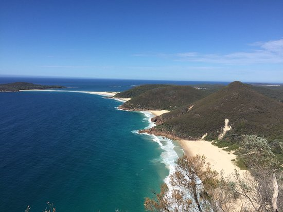 Tomaree National Park: View to Zenith beach and Fingal Bay