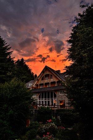 Hotel Tunquelen : Beautiful sunset!