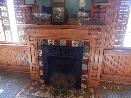 Santa Paula, CA: Coal fireplace in the board room