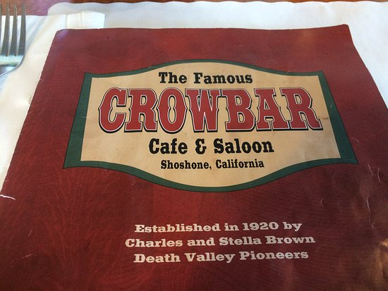 Shoshone, CA: menu cover