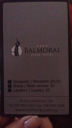 Balmoral Plaza Hotel: contatos do local