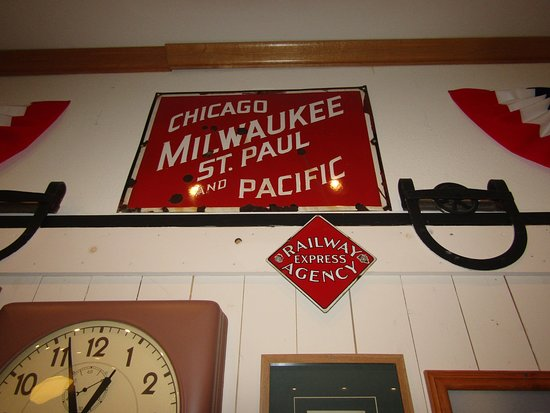 Prairie du Chien, Висконсин: The Chicago Milwaukee St. Paul and Pacific Railroad Sign