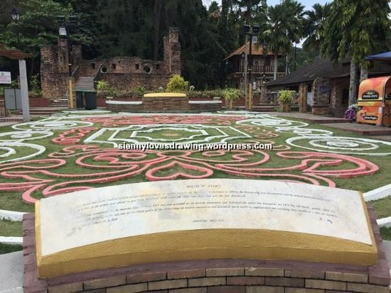 Pulau Pangkor, Malezya: The signboard with brief history of Dutch Fort not to be missed