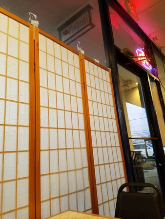 Hiro Sushi Rice Paper Shoji Screens With Masking Tape Attached To Front Windows