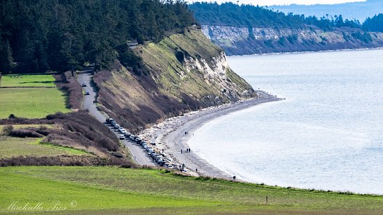 Coupeville, WA: View of Ebey's landing from the hike pathe to Ebey's Bluff.