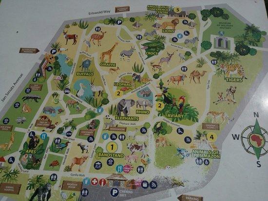 Map of Johannesburg Zoo Picture of Johannesburg Zoo Johannesburg