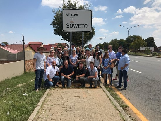 Imbizo Tours and Travel -   Day Tours: Group photo before entering magical Soweto.