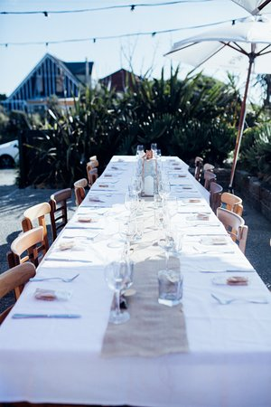 Outdoor banquet table setup - Picture of Waimea Restaurant, Waikanae ...