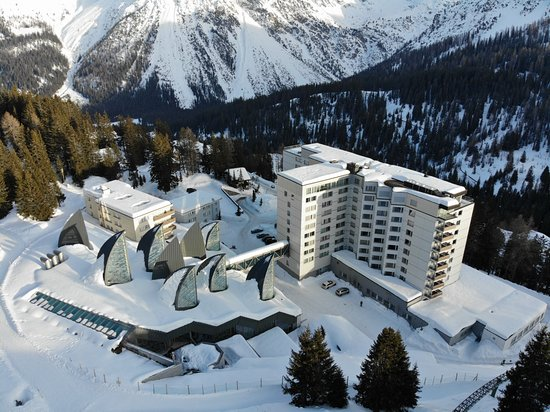 Tschuggen Grand Hotel Taken From Drone