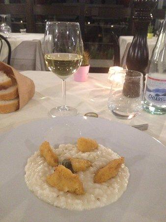 Sala Comacina, Italia: Risotto al pesce persico