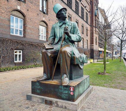 Mr Hans Christian Andersen Bronze Statue Picture Of H C