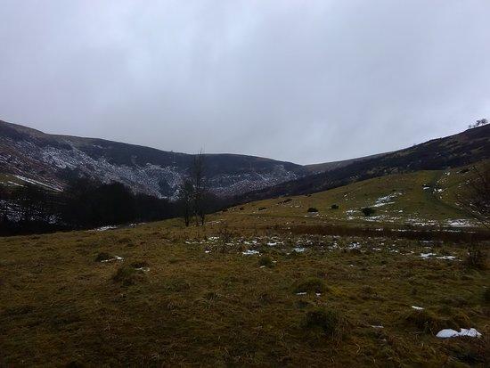 Aberdare, UK: looking towards The Darren mountain