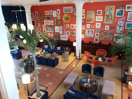 Albion South Beach: Lobby muy bien decorado