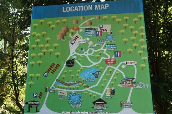 Sungai Klah Hot Spring Park: Big location map within the park