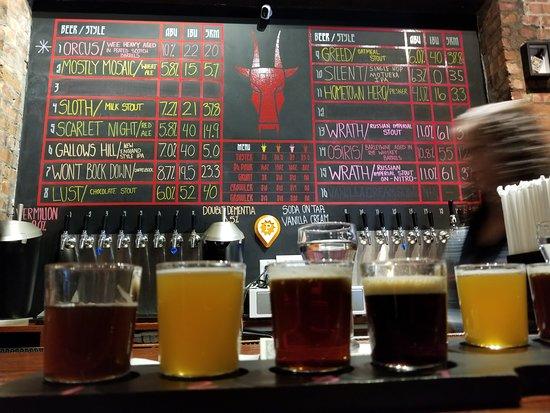 Middlesex, นิวเจอร์ซีย์: Beer flights