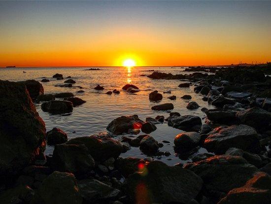 Montevideo, Uruguay: Pôr do sol na Rambla Pte. Wilson