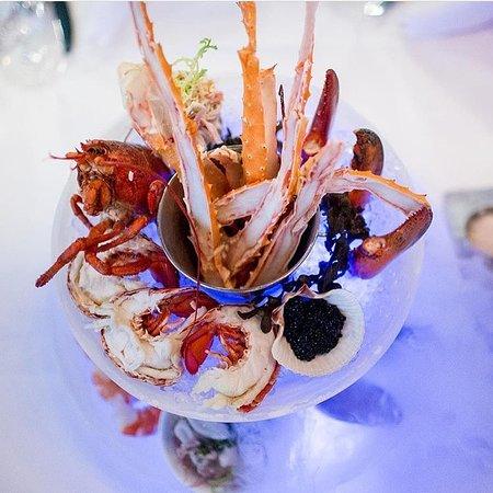 Angelo's 677 Prime: Seafood tower!