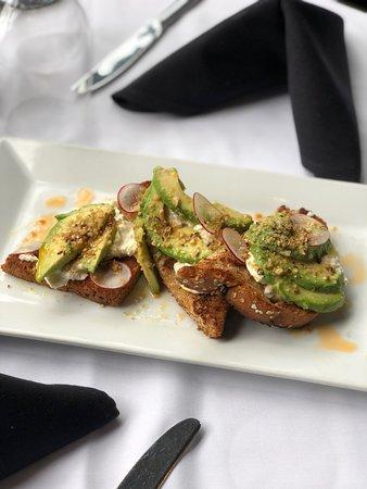 677 Prime: Lunch: Burrata and avocado toast