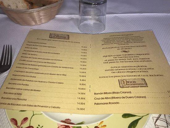 Boca de Huergano, Španielsko: Carta actualizada 2018